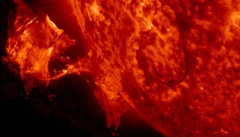 Tormenta solar (NASA)