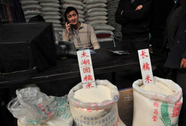 Mercado de arroz en SHANGHAI, CHINA (fOTO Getty Images).
