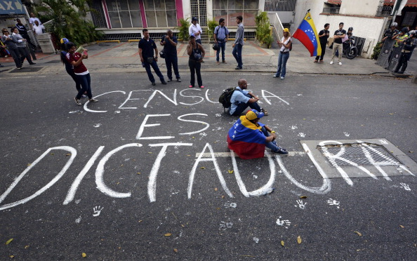 Censura en Venezuela. Foto: JUAN BARRETO/AFP/Getty Images