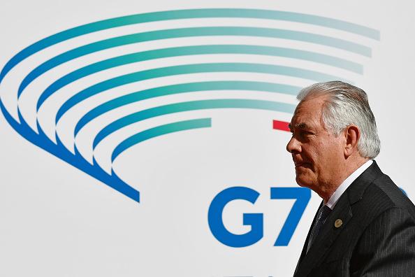 Rex Tillerson en G7- Foto: VINCENZO PINTO/AFP/Getty Images
