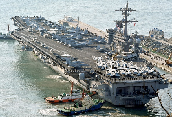 Portaaviones estadounidense Carl Vinson  Foto: Kyodo News via Getty Images
