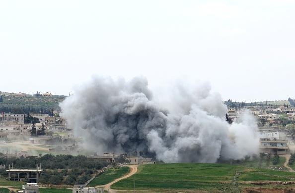 Presunto ataque químico en Siria. Foto: Al Ali /Anadolu Agency/Getty Images.