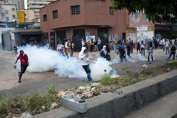 Protestas en Venezuela. Foto: Manaure Quintero/NurPhoto via Getty Images.