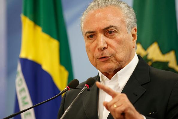 El presidente de Brasil Michel Temer reiteró que no renunciará a su cargo. (Foto: Igo Estrela / Stringer / Getty Images)