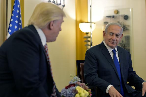 En esta foto de la Oficina de Prensa del Gobierno de Israel (GPO), el Presidente de los Estados Unidos Donald J Trump (L) se reúne con el Primer Ministro Benjamin Netanyahu en el King David Hotel 22 de mayo de 2017 En Jerusalén, Israel. (Foto: Kobi Gideon/GPO via Getty Images)
