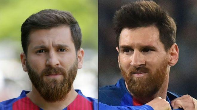A la izquierda, Reza Parastesh. A la derecha, Lionel Messi.  (Foto: ATTA KENARE,GIUSEPPE CACACE/AFP/Getty Images)