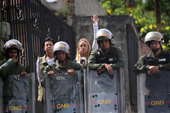 La esposa del líder opositor venezolano Leopoldo López, Lilian Tintori. (Foto: RONALDO SCHEMIDT/AFP/Getty Images)