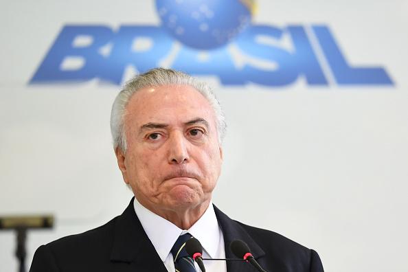 El presidente de Brasil Michel Temer fue grabado en una polémica conversación de compra de silencio. (Foto: EVARISTO SA/AFP/Getty Images)