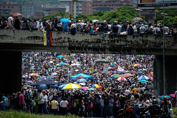 Protesta contra Maduro en Caracas, Venezuela. 16 de mayo 2017. (Foto: FEDERICO PARRA/AFP/Getty Images)
