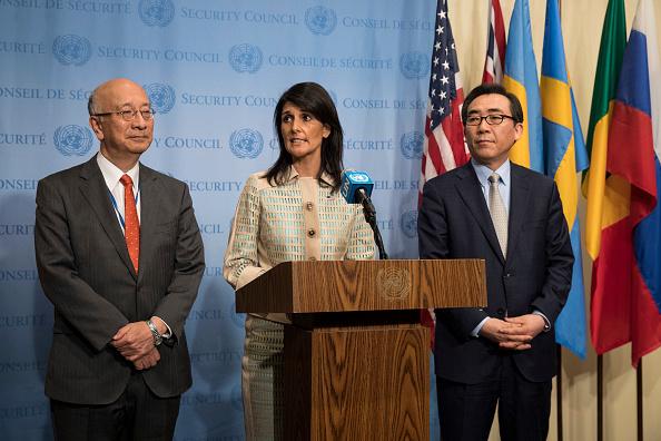 El Consejo de Seguridad de la ONU realiza reunión a puertas cerradas sobre Corea del Norte el martes, 16 de mayo de 2017. (Foto: Drew Angerer/Getty Images)