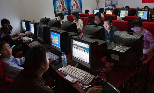 Ciber Café en China (Foto: Getty Images).