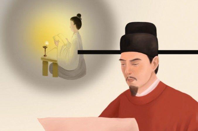 Kou Zhun vivió una vida frugal a pesar de ser primer ministro. Una vez cayó en la indulgencia, se conmovió hasta las lágrimas y rápidamente cambió sus costumbres después de leer un poema dejado por su madre antes de morir. (SM Yang / La Gran Época)