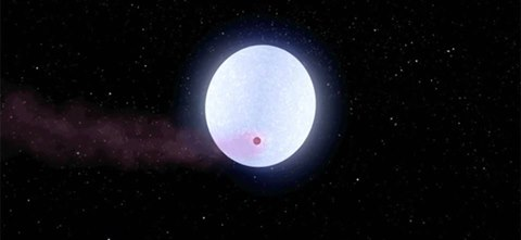 Astrónomos de la Universidad Estatal de Ohio y de la Universidad de Vanderbilt que han descubierto el planeta más caliente que la mayoría de estrellas, prevén lo que le sucederá. (Imagen: Robert Hurt, NASA / JPL-Caltech vía OSU)