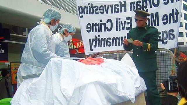 Una demostración de la sustracción forzada de órganos (Minghui)