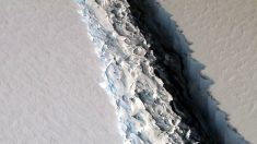 Gigantesco iceberg de la Antártida a punto de desprenderse