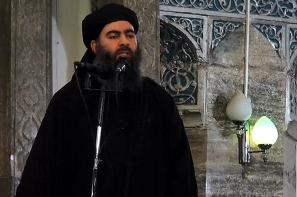 Abu Bakr al-Baghdadi. Foto: Al-Furqan Media/Anadolu Agency/Getty Images.