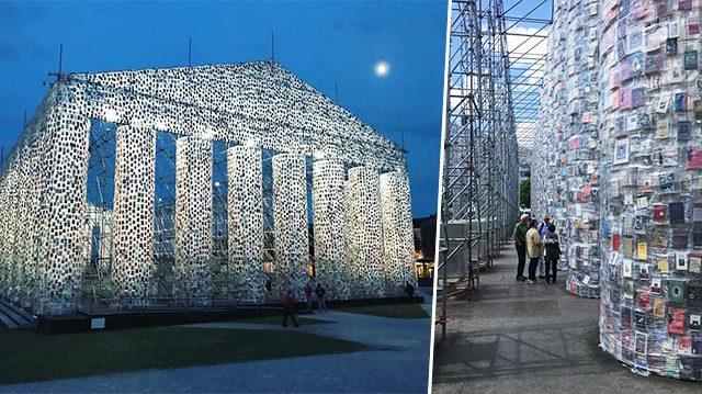 Esta es la razón por la que utilizaron 100.000 libros prohibidos para crear una réplica del Partenón