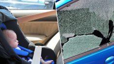 """Policía  intenta reanimar a una """"bebé"""" encerrada en un auto caliente y nota algo raro en la criatura"""