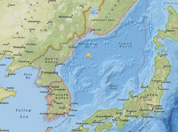 Terremoto de 5,8 sacude las costas de Corea del Norte