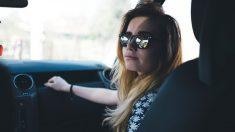 Su marido bajó súbitamente del auto y le pidió que se vaya, pero ella logró captar una escena viral