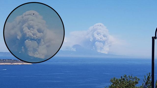 La aterradora cara que toma el humo del Monte Vesubio se vuelve viral