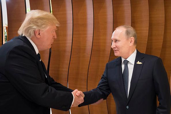 Trump y Putin el 7 de julio de 2017 (Getty Images).