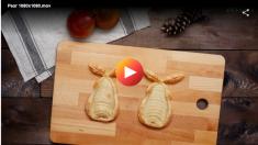 Pera en pasta de hojaldre
