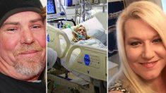 A punto de ser desconectada del soporte vital su marido susurra algo al oído y ella despierta del coma