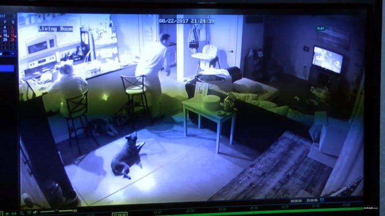 Imagen espeluznante es captada por la cámara de seguridad de una familia
