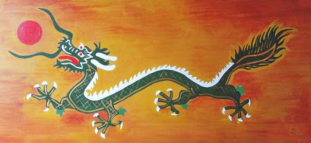 Los chinos creían que durante un eclipse un dragón trataba de comerse al sol y por eso debían tocar tambores y hacer mucho ruido para asustarlo. (Kodachi/Wordpress.com)