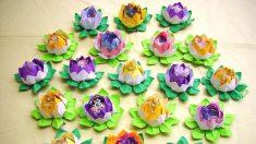 Cómo hacer flores de loto en origami con un significado especial