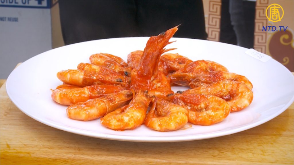 Cocina del noreste de China: camarones a fuego lento en salsa de tomate dulce