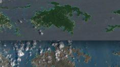 El color del Caribe se transformó tras el paso del huracán Irma