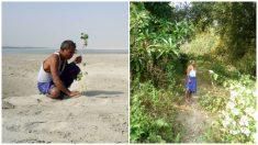 Plantó un árbol todos los días por 35 años y logró un impresionante bosque en medio del desierto