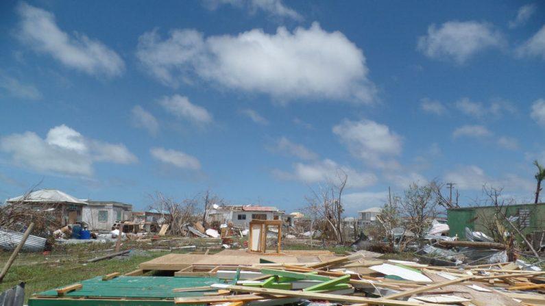 Casas totalmente destruidas por el huracán Irma el 8 de septiembre de 2017 en Codrington, Antigua y Barbuda. (GEMMA HANDY / AFP / Getty Images)