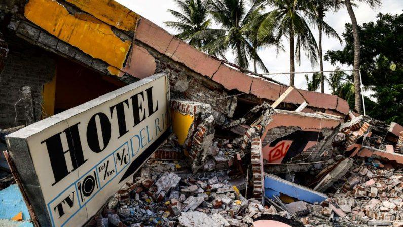 Terremoto de 8,2 grados en México, viernes 8 de septiembre de 2017. (Foto de RONALDO SCHEMIDT / AFP / Getty Images)