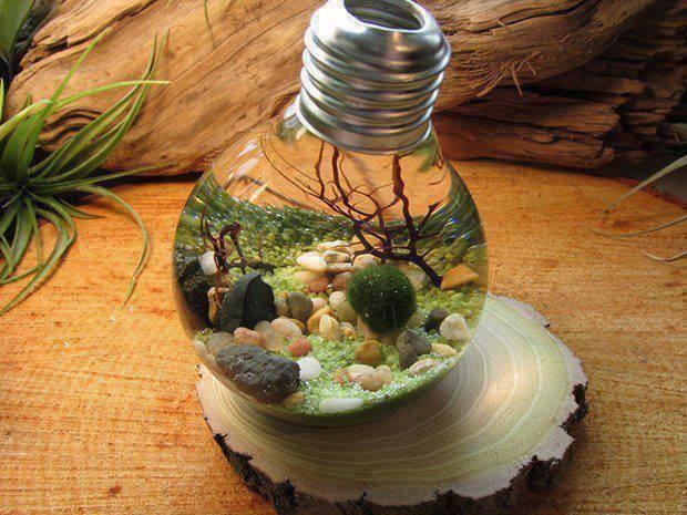 11 novedosas ideas para reutilizar tus bombillas eléctricas de diversas formas