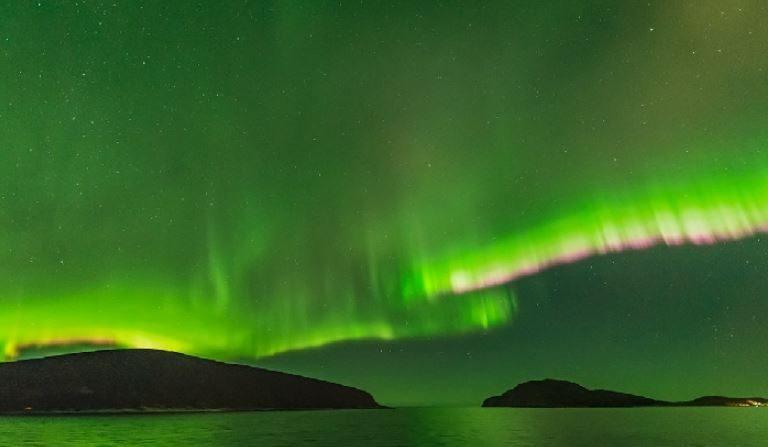 Aurora boreal del 24 de octubre de 2017 desde Tromso, Noruega. (Alan Dyer - Space Weather Gallery)