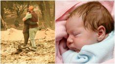 Mientas daba a luz un incendio arrasó su casa, pero una confusión hospitalaria trajo un milagro su bebé