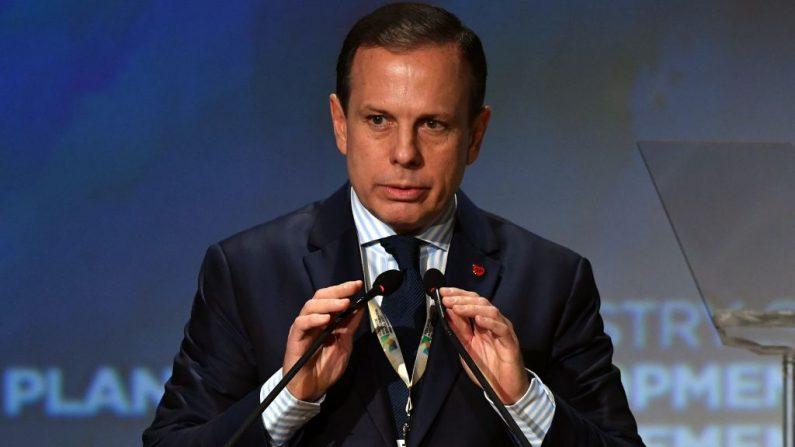 El intendente de Sao Pauloo, Joao Doria se prepara para hablar en el foro en Sao Paulo, Brasil. (Nelson Almeida/AFP/Getty Images)