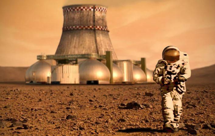 Misión en Marte. Escenario árido de una posible misión en el planeta rojo. (Conversation / NASA)