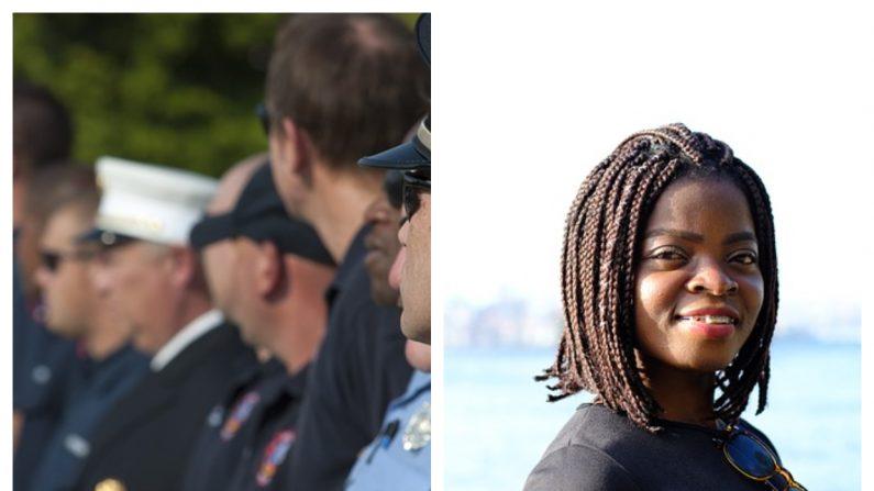 Policías sorprenden a esta angustiada chica que perdió a su papá 2 días antes de su cumpleaños