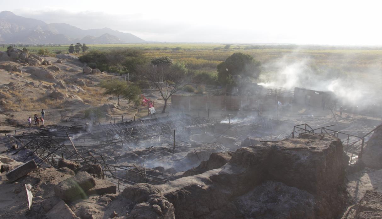 Incendio en Perú acaba con la arquitectura y los murales más antiguos de América