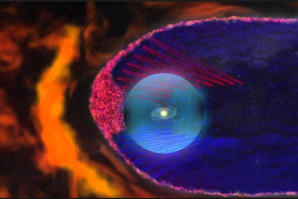 Burbujas magnéticas en una Ilustración de la NASA.