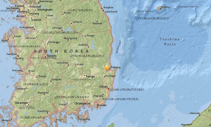 Un terremoto de magnitud 5.4 golpea la costa oriental de Corea del Sur