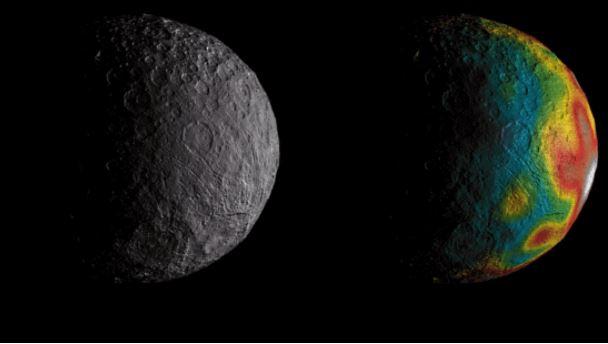 Algo se mueve en el asteroide Ceres, revelan astrónomos de la NASA