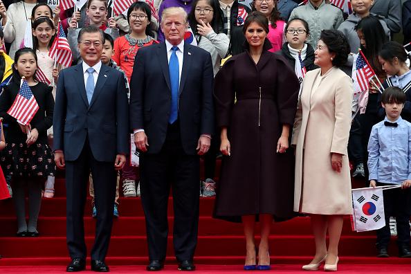Corea del Sur le brinda una cálida bienvenida al presidente Trump