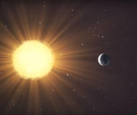 Una estrella del universo y un posible planeta habitable. Ilustración. ( NASA)