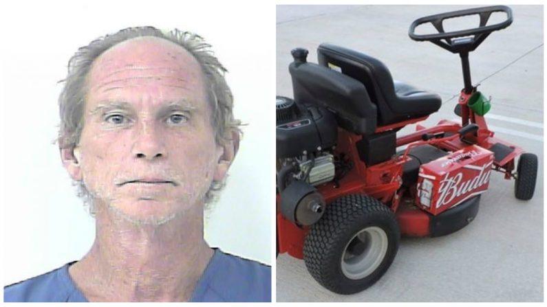 La policía arresta a un borracho de Florida por conducir una cortadora de pasto en la autopista