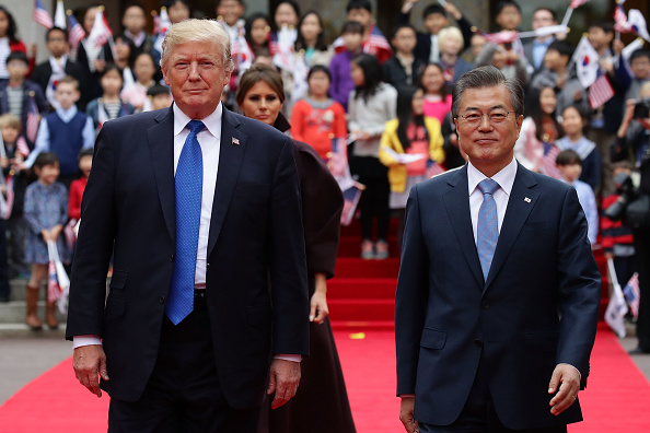El presidente Trump y su homólogo Moon. Foto: Chung Sung-Jun/Getty Images.